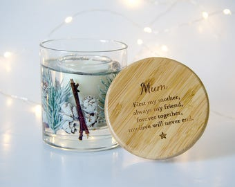 Christmas Candle for Mum, Christmas Gift for Mum, Handmade Christmas Candle, Unique Gift for Mum, Mom Candle, Mum Candle
