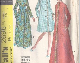 McCalls Pattern # 2696 from 1970 Misses Robe in three versions  Bust 31 1/2-32 1/2