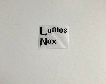 Harry Potter Lumos Nox Vinyl