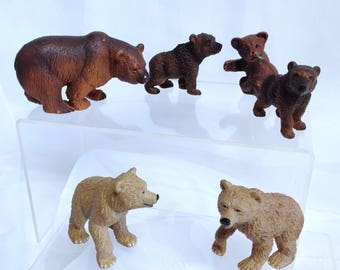 Vintage Schleich Brown Bear Model Safari Models Bear Cub Models Made in Germany Forest Animal Model Retired Schleich & Safari Forest Diorama