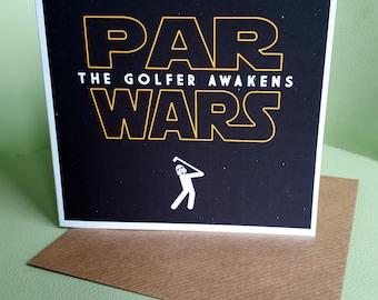 Golfers Card - Par Wars - The Golfer Awakens