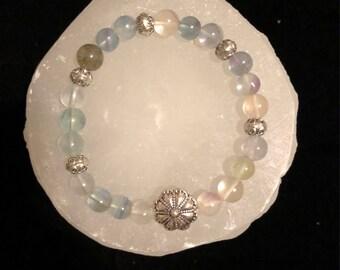 Fluorite Crystal Healing Gemstone Bracelet