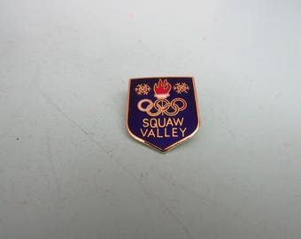 Vintage Squaw Valley Olympic Skiing Pin 1979 Free Shipping