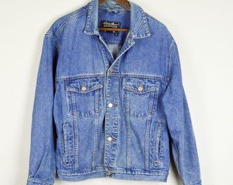 Oversized Denim Jacket, Jean Jacket, Vintage Clothing, 90s Clothing, Baggy Jacket, Distressed Denim Jacket, 90s Jacket, Large Jean Jacket