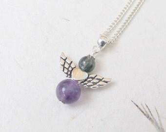 Angel necklace, angel jewelry, guardian angel