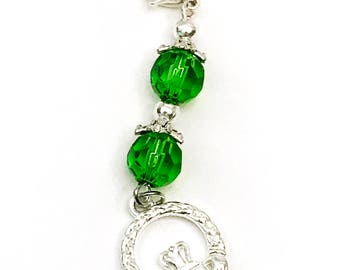 Irish Claddagh St. Patrick's Day Charm for Planner, Purse, Zipper, Key-chain or Luggage Bling!