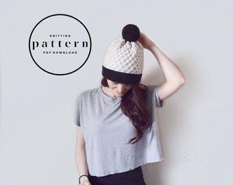 KNITTING PATTERN : Emerson Hat / knitting pattern, knitting pattern hat, knit hat pattern, knit beanie pattern, textured hat pattern