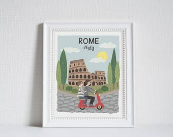 Rome (City Love) - Art Print (8x10)