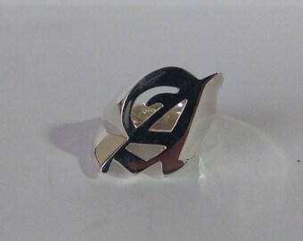 Gothic letter ring