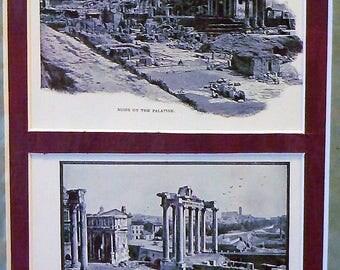 1905 Roman Forum Matted Antique Print