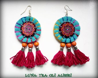 Mexican style earrings-turquoise