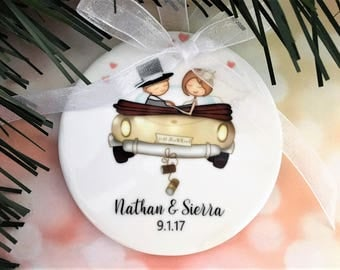 First Christmas Ornament Married Wedding Gift for Couple