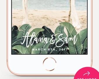 Wedding Snapchat Filter, Wedding Snapchat Geofilter, Snapchat Geofilter - Banana Leaf Design