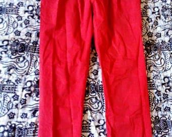 Seeing red pants