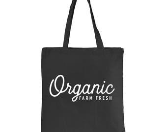 Organic Farm Fresh Canvas Tote Bag