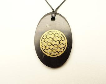 Shungite of pendant Flower Of Life
