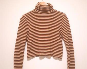Vintage Striped Turtleneck Jersey