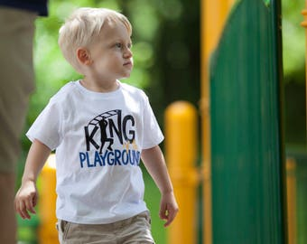 King of the Playground Shirt or Bodysuit - (0-24 months)(2T-16) Boys - back to school, first day of school, 1st day, playground king