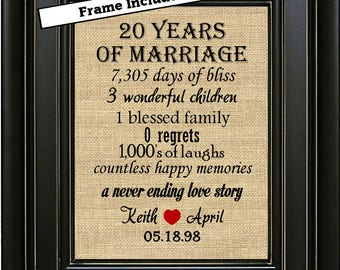 20th wedding anniversary gifts traditional and modern families