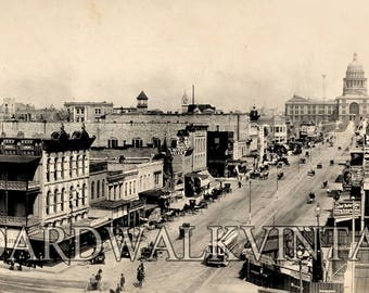 1910 Austin Texas Vintage Panoramic Photograph Reprint Vintage Photo