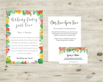 Tropical Elopement and Website Suite