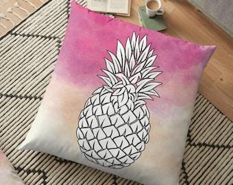 Pineapple Throw Pillow , Pineapple Pillow , Decorative Pillow , Tropical fruit Pillow , Decorative cushion  , pineapple decor ,
