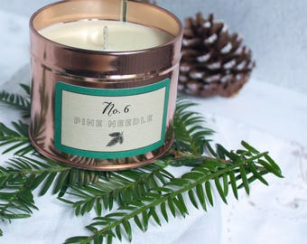 Christmas- scented candle, Christmas gift, handmade, soy candle, christmas gift for her -  christmas tree - artisan- container candle