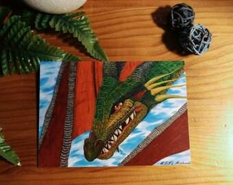 "Postcard ""Dragon"""