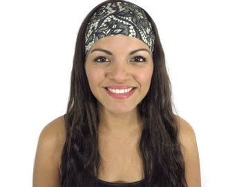 Gray Running Headband Workout Headband Fashion Women Turban No Slip Headband Wide Yoga Headband Fitness Spandex Headband Boho Headband S176