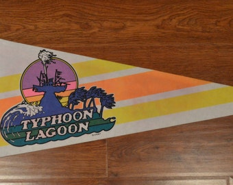 Vintage Walt Disney World Typhoon Lagoon Felt Pennant
