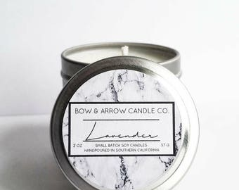 2 oz Natural Soy Candle Lavender Scented | 2 oz Tin Candle | Floral Candle | Lavender Scented | Lavender Soy Candle | Scented Soy Candle