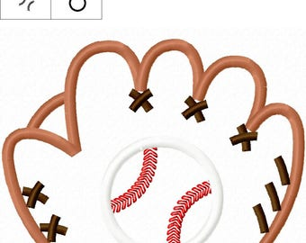 Baseball Glove Applique