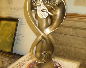 Art Deco Style Angel W/ Harp