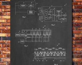 Electric Meter Patent Print Art 2004