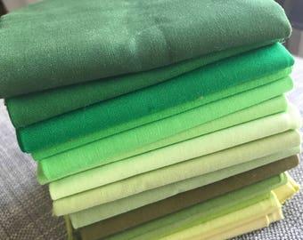 Fat quarter bundle- shades of green