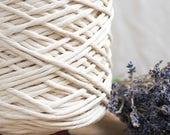 Roh String Baumwollkordel / 3mm / 1kg / Baumwollseil / Makramee Seil / Makramee Schnur / Craft Seil / Baumwolle Garn / weben /