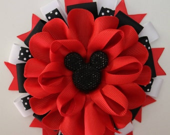 Mickey Mouse Baby Shower Mommy to Be Corsage