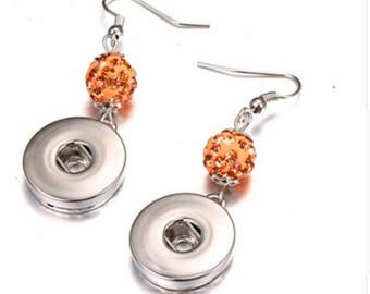 Nude, silver, earrings, Pearl Earrings clip on earrings