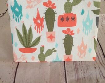 Nopales cosmetic bag, cactus bag, muncheeks, handmade make up bag