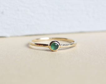 Emerald Ring, Gold Ring, Emerald, Stacking Rings, Birthstone, 9ct Gold Ring, Solid Gold Ring, Dainty Ring, Birthstone Ring, Gemstone Ring