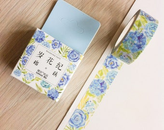 Cute washi tape - blue flowers - infeel me | Cute Stationery
