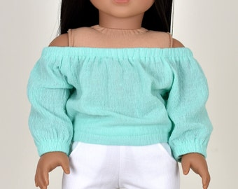 Taylor Country Top Off The Shoulder Top 18 inch doll clothes Mint