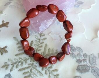 Red Jasper Bracelet - Red Jasper Jewelry, Healing Crystals and Stones w/ Reiki