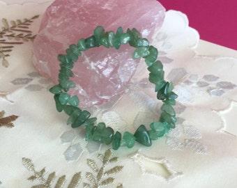 Green Aventurine Bracelet with Reiki- Aventurine Crystal Healing Bracelet,  Healing Crystals and Stones Jewelry