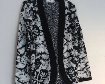 Vintage Slouchy cocoon floral over-sized cardigan sz small