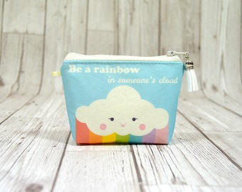 Cute small wallet, Be a rainbow zipper coin wallet minimalist wallet women, Coin wallet small change wallet, Bussiness card holder wallet