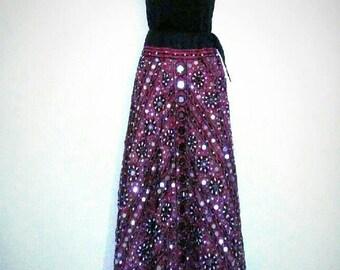 Boho Bohemian Indian Gypsy Goddess Maxi Skirt 1960s 1970s Vintage Best Selling Items