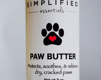 Paw Butter Lotion Stick/Paw Salve/Organic Pet Care/Pad Moisturizer/Grooming Products/Dogs/Paw Care/Natural Paw Cream/Puppy Care