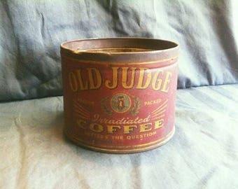 Vintage Old Judge Coffee Tin