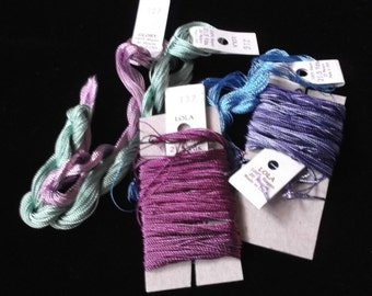 """Brazilian Embroidery Threads by EdMar, """"Lola"""" and """"Glory"""". Estate Find"""